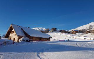 chalet lénnanska la toussuire hiver extérieur piste