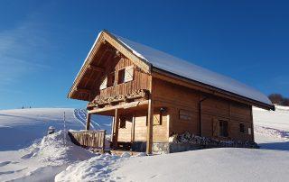 chalet le Sérac la toussuire hiver extérieur
